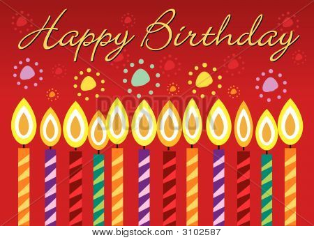 poster of Happy Birthday Greeting Card