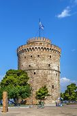 White Tower Of Thessaloniki Is A Monument And Museum On The Waterfront Of The City Of Thessaloniki,  poster