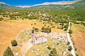 Historic Church Of Holy Salvation Ruins In Cetina, Pre-romanesque Church In Dalmatian Hinterland Of  poster