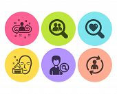 Search People, Search Employees And Recruitment Icons Simple Set. Face Cream, Person Info Signs. Fin poster