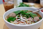 picture of tripe  - Vietnamese Rare Beef Noodle Soup Pho Coffee Meatball