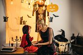 Happy Halloween Quotes And Sayings. Happy Halloween Weekends For Mother And Son. Happy Halloween Quo poster