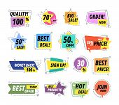 Sale Quality Badges. Assured Label Badge. Promo Sticker Exclusive Premium Best Price Delivery Button poster