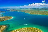 Spectacular Croatian Coastline Landscape, Mediterranean Coastline, Aerial View On Murter Arhipelago, poster