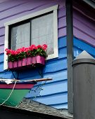 Exterior Details Of Floating Homes In Fisherman Wharf, Victoria, British Columbia poster