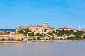 Buda Castle Or Royal Palace On The Banks Of The Danube River In Budapest City, Hungary. poster