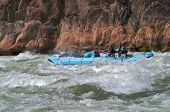 picture of grand canyon  - Raft on Granite Rapids in Grand Canyon - JPG