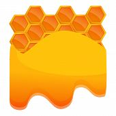 Honey Comb Icon. Cartoon Of Honey Comb Vector Icon For Web Design Isolated On White Background poster