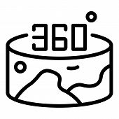 360 Vr Panorama Icon. Outline 360 Vr Panorama Vector Icon For Web Design Isolated On White Backgroun poster