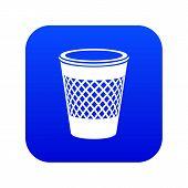 Domestic Bin Icon. Simple Illustration Of Domestic Bin Vector Icon For Web poster