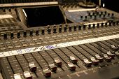 stock photo of recording studio  - mixing console - JPG