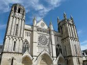 stock photo of poitiers  - Gothic church of Saint Pierre in Poitiers - JPG