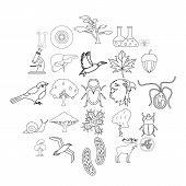 Fauna Icons Set. Outline Set Of 25 Fauna Icons For Web Isolated On White Background poster