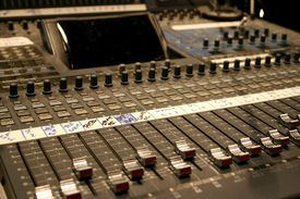 picture of recording studio  - mixing console - JPG
