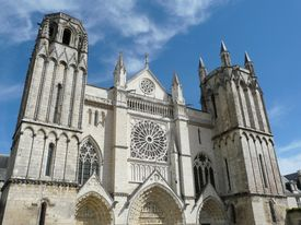 picture of poitiers  - Gothic church of Saint Pierre in Poitiers - JPG