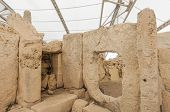 picture of megaliths  - Hagar Qim megalithic temple complex one of the most ancient religious sites on Earth in Malta - JPG