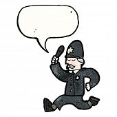 pic of truncheon  - cartoon policeman chasing - JPG