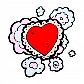 picture of frilly  - cartoon frilly love heart - JPG