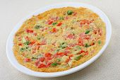 Crispy and spicy omelet.