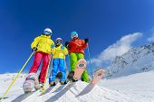 stock photo of winter  - Skiing - JPG
