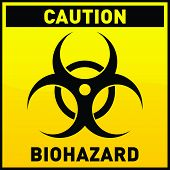 foto of biological hazard  - Vector icon showing a biohazard sign in yellow styles - JPG