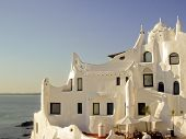 foto of breathtaking  - Casapueblo house in Punta del Este one of the famous landmarks from this place in Uruguay - JPG