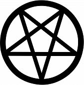 picture of wiccan  - Vector illustration of a mystical pentagram symbol - JPG