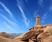 pic of por  - Pors Kamor lighthouse Ploumanac - JPG