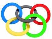 stock photo of paralympics  - Multicolored mark the Olympic Games - JPG