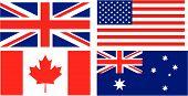 Постер, плакат: Флаг Английский говорящих стран