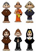 stock photo of nun  - Collection of cartoon religious - JPG