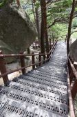 pic of seoraksan  - Steep metal stairs at Seoraksan National ParkSouth Korea - JPG