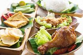picture of ayam  - Famous traditional Indonesian food - JPG