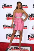 LOS ANGELES - MAR 5: Toks Olagundoye at the premiere of 'Mr. Peabody & Sherman' at Regency Village T