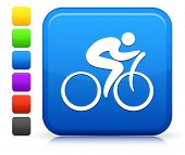 Bicycle Icon on Square Internet Button Collection