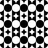 Seamless Monochrome Disco Pattern