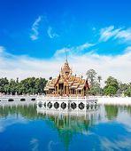 picture of royal palace  - Bang Pa In ancient palace - JPG
