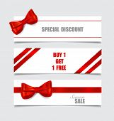 image of year end sale  - End of year sale savings labels set - JPG