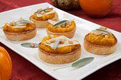 stock photo of butternut  - Plate full of savory butternut - JPG