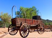 picture of covered wagon  - Old Wild West Covered Wagon from USA - JPG
