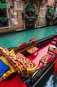 image of gondola  - VENICE ITALY  - JPG