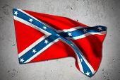 image of confederation  - 3d rendering of an old confederate flag - JPG