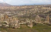 picture of goreme  - Cappadocia Mountain landscape near the town Goreme Turkey - JPG