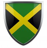 image of jamaican flag  - Jamaica national flag design element icon isolated on white - JPG