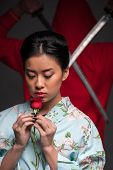 foto of japanese woman  - Oriental culture and traditions - JPG