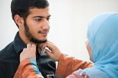stock photo of eastern culture  - Arabic teenager - JPG