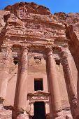 picture of petra jordan  - Famous Royal Tombs in ancient city of Petra Jordan - JPG