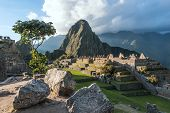 stock photo of andes  - Machu Picchu in Sacred Valley of Peru - JPG
