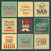 stock photo of special day  - Greeting cards set for father - JPG