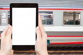 image of high-speed train  - travel concept  - JPG